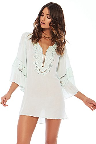 LSpace Women's Threads Dress Swim Cover Up Glass M by L*Space