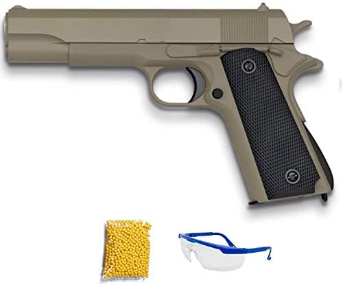 GE3003 Golden Eagle 1911 Tan Pistola de Airsoft Calibre 6mm (Arma Aire Suave de Bolas de plástico o PVC). Sistema: Muelle. <3,5J