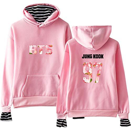 Kpop Ragazzi Pullover Kawaii Felpa Fans Abbigliamento Top Bts Harajuku Cappuccio Con Bangtan Oversize Felpe Pink wq0f8qIx