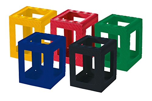 folia 9709/5Lantern Blanks Mini Corrugated Cardboard–5Pieces Assorted in 5Colours