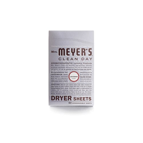 Mrs. Meyer's Dryer Sheets - Lavender - Case Of 12 - 80 Sheets by Mrs. Meyers