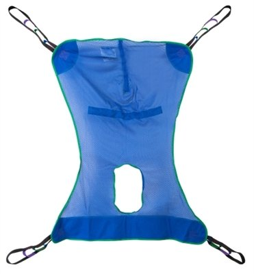- Mesh Full Body Commode Sling, Patient Lift Sling with Commode Opening, Extra Large Size, XL, 4 or 6 Points, Without Head Support