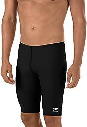 Speedo Men's Endurance+ Solid Jammer Swimsuit, Black, 34