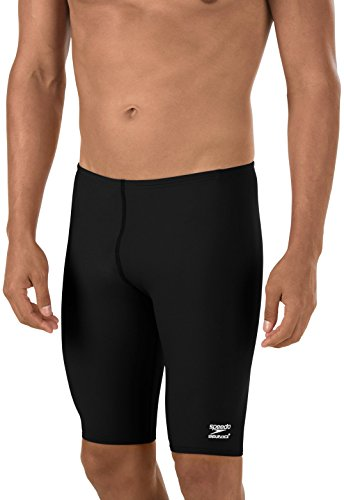 Speedo Men's Endurance+ Solid Jammer Swimsuit, Black, - Swimwear Men's