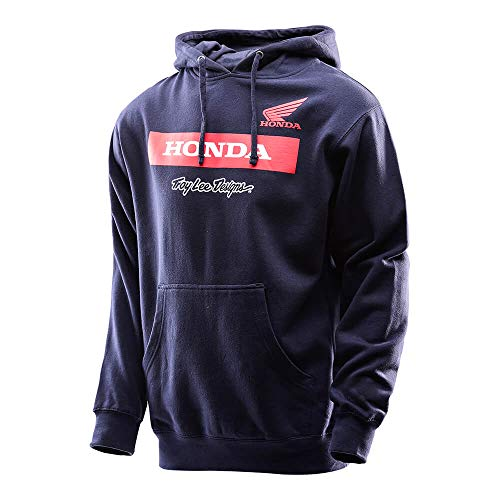 Hoody Sweatshirt Honda (Troy Lee Designs Mens Official Licensed Honda Wing Block Pullover (Navy, Medium))