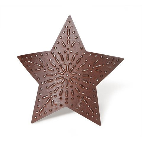Darice DIY Crafts Tin Star Rusty Curved Punched - Punched Tin Crafts