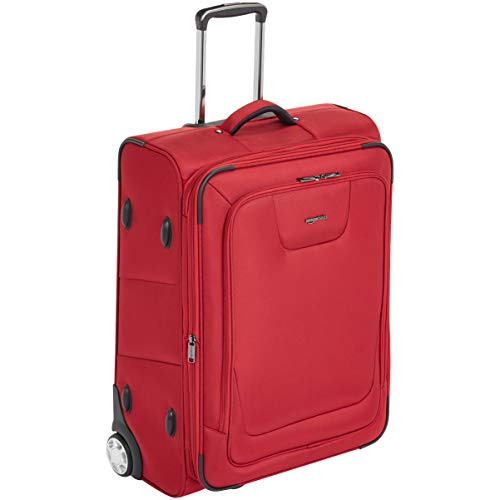(AmazonBasics Expandable Softside Rolling Luggage Suitcase With TSA Lock And Wheels - 26 Inch, Red)
