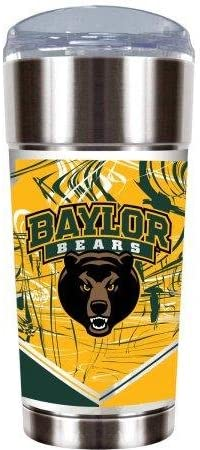 GREAT AMERICAN PRODUCTS NCAA Baylor Bears The Eagle 24オンス真空断熱ステンレススチールタンブラー