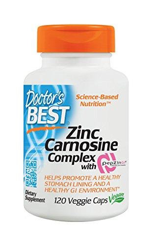 Zinc Carnosine Complex with PepZin GI, 120 Veggie …