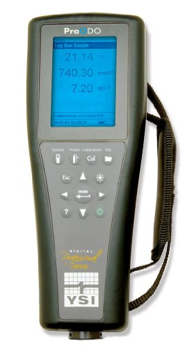 YSI ProODO Digital Handheld Optical Dissolved Oxygen Meter, 0 to 50 mg/L, 0.1 mg/L, +/- 0.1 mg/L, 0 to 500 Percent, -5 to 70 Degree C, 8-1/2