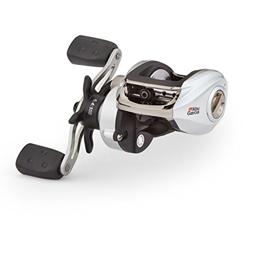Abu Garcia SMAX3 Silver Max Low Profile Baitcast Fishing Reel (Right ()