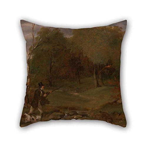 (Artsdesigningshop Oil Painting Edward Duncan - Pheasant Shooting Cushion Covers 16 X 16 Inches / 40 by 40 cm for Indoor Lounge Adults Deck Chair Outdoor Lounge with Both Sides)