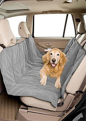 DuraGear Pet Travel Hammock Dog Car Seat Cover- Microvelvet Slate