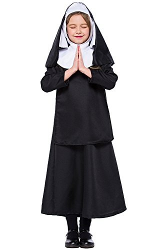 Joygown Nun Fancy Dress Jesus Christ Girl Costumes School Halloween Costume L]()