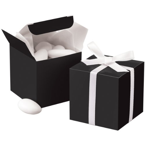 - Wilton 1006-0638 Black Square Favor Box Kit, 100 Count