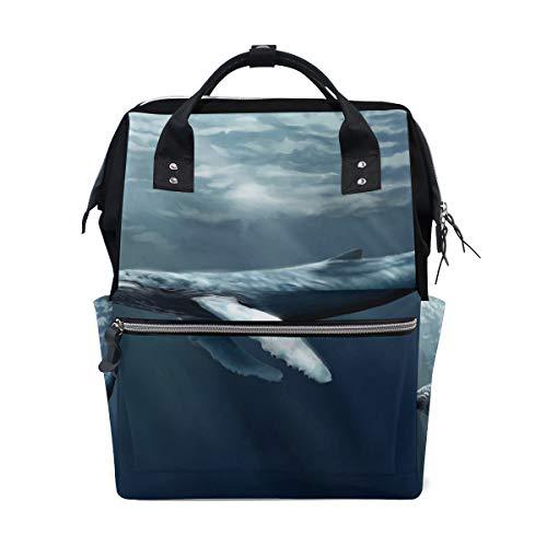 Backpack Humpback Whale Womens Laptop Backpacks Hiking Bag Travel Daypack