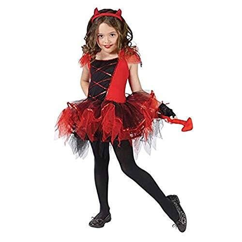 Christmas Cosplay Fantasia Carnival Fancy Dress Halloween Costume for Kids Princess Cat Witch Vampire Girls Children Kid(S) ()