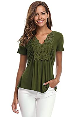 MISS MOLY Women's Peplum Tops Deep V-Neck Ruched Front Short Sleeve Ruffle Blouse Halloween Costume Plus Size (XS-4XL)