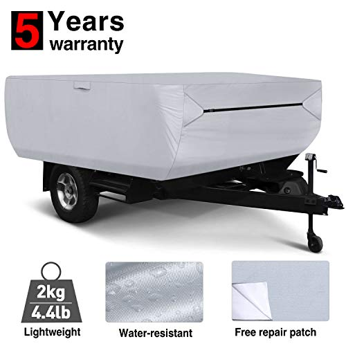 RVMasking Pop Up / Folding Camper Cover, Fits 8' - 10' Trailers (Best Small Pop Up Camper)