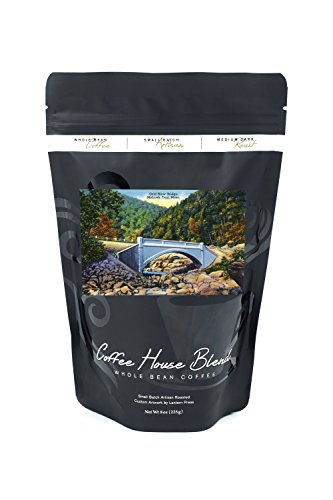 Berkshire Mountains, MA - Mohawk Trail View of Cold River Bridge (8oz Whole Bean Small Batch Artisan Coffee - Bold & Strong Medium Dark Roast w/Artwork)