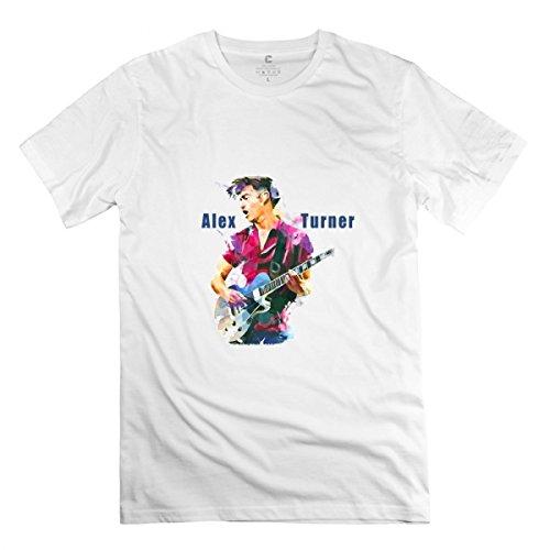 Alex Turner White T-shirt For Men L (Alex Turner Sweatshirt)