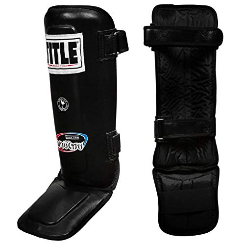 Title Boxing Muay Thai Leather Shin/Instep Guard
