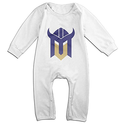 Ellem Cute Minnesota viking Romper For Infant White 18 - Customized Clothing Promotional