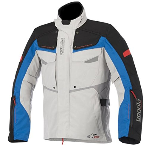 Alpinestars Bogota Drystar Jacket, Gender: Mens/Unisex, Primary Color: Gray, Size: 2XL, Apparel Material: Textile, Distinct Name: Gray/Black/Blue/Red 3207015-9217-2X