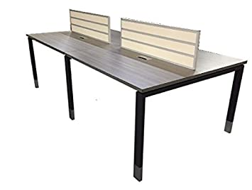 Dfs Designs 4 Person Elm Gray Benching System For Sales People 4  4 Foot