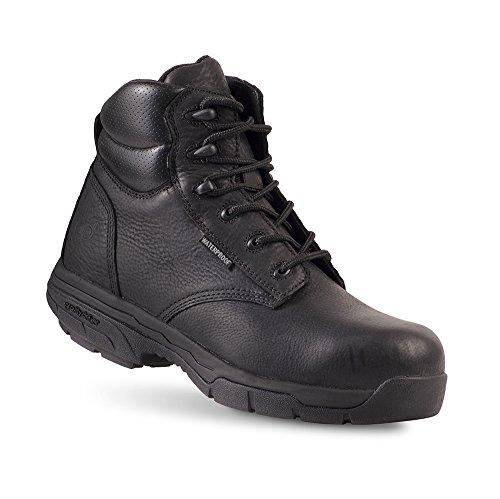 Gravitation Defyer Vincent Mens Boots - Vattentät, Halksäkra Och Bekväma Arbete Stövlar - Perfekt För Plantar Fasciit Och Hälen Smärta Svart