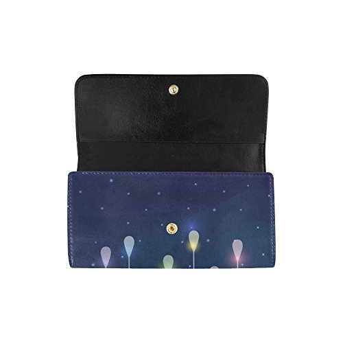 Rainbow Gift Silly Cute Clutch Women's Wallet Clouds Great Women's Cloud Rain Meow Long Cute Trifold Moon Planets Stars Custom Colorful With Wallets pqw4ZRprgW