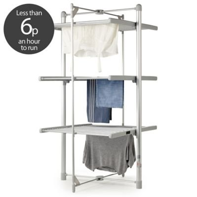 -[ Dry:Soon 3-Tier Heated Tower Airer (Under 6p / Hour!)  ]-