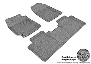 3D MAXpider Complete Set Custom Fit Floor Mat for Select Toyota Camry Models - Classic Carpet (Gray)