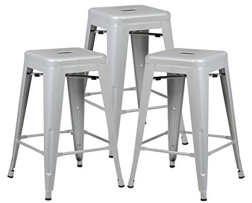 Poly and Bark Trattoria 24 Counter Height Stool in Grey EM-241-GRY