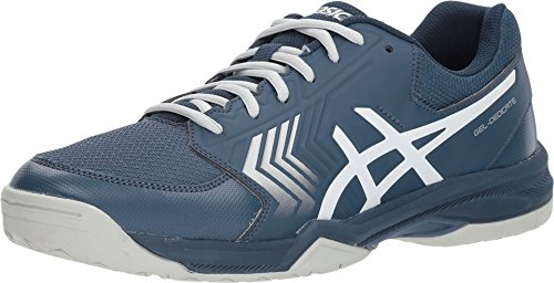 ASICS E707Y Men's Gel-Dedicate Running Shoe, Dark Blue/Silver/White - 10 D (M) US