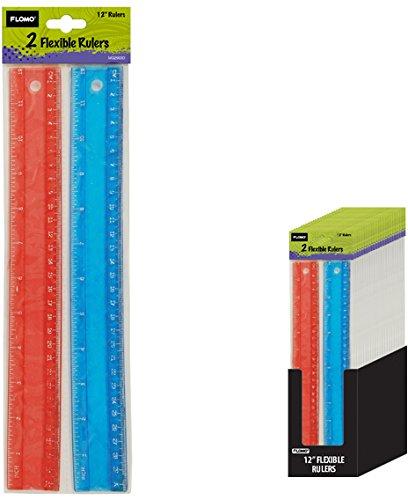 Two 12'' Glitter Flexible Rulers 48 pcs sku# 1916075MA
