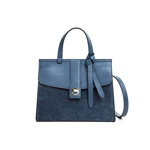 Sacs à main en cuir décontractés Casual Napa Blue Calf Leather Woman