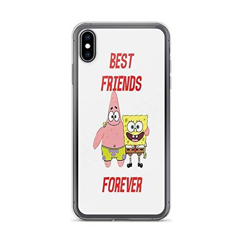 iPhone Xs Max Case Cases Clear Anti-Scratch Patrick & Spongebob Best Friends Forever, Patrick Cover Case for iPhone Xs Max, Crystal Clear