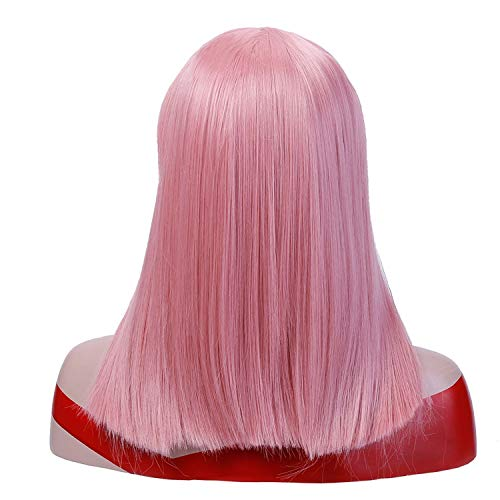 Halloween Party Pretoria (Straight Hair With Bangs Black Brown Blonde Wigs For Women Synthetic Party Halloween Wig Heat Resistant Synthetic)