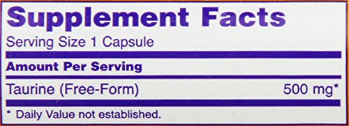 NOW Foods Taurine 500mg, 100 Capsules
