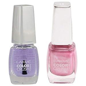 Lakme True Wear Color Crush Nail Color, Shade 10, 9ml and Lakme True Wear Color Crush Nail Color, Shade 14, 9 ml