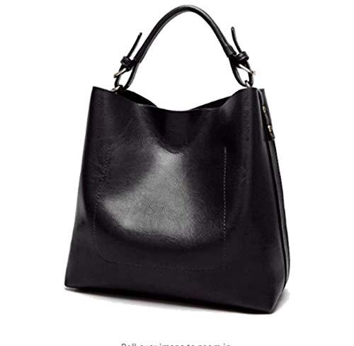 Bag Hobo Tote Bag Womens Durable Leather Bags Ladies Crossbody Handbag Shoulder Black for Messenger aFTqHfw5