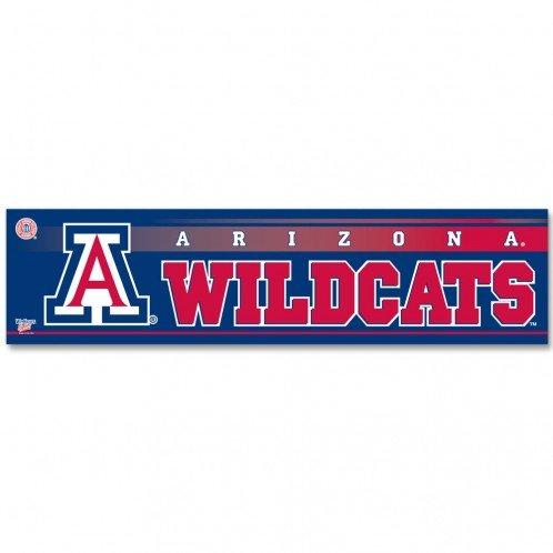 3 x 12 Wincraft NCAA Arizona University of WCR13223381 Bumper Strip