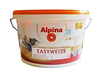 Alpina 5 Liter Easy Weiss, Weiss Matt, schnell & einfach zu ...