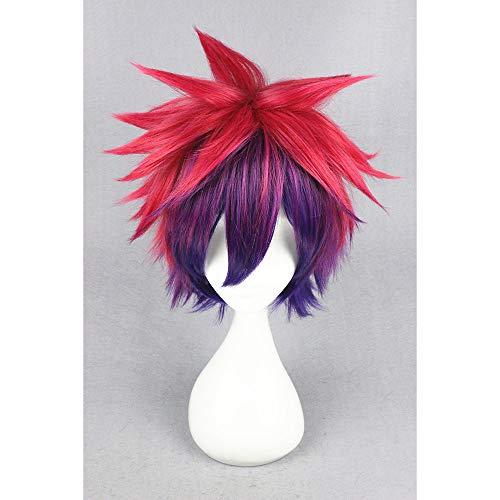 short no game no life sora color mixed 14inch anime cosplay wig cs 185a Halloween