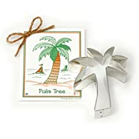 Palm Tree Cookie and Fondant Cutter - Ann Clark - 4.5 Inches - US Tin Plated Steel