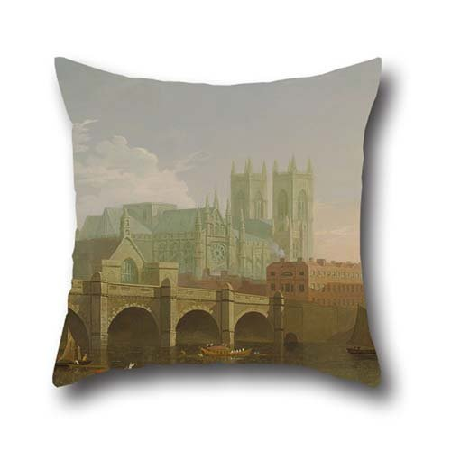 Pillow Shams Of Oil Painting Joseph Farington - Westminster Abbey And Bridge,for Bf,kids Girls,deck Chair,office,gf,dance Room 20 X 20 Inch / 50 By 50 Cm(each Side) (Westminster Halloween Dance)