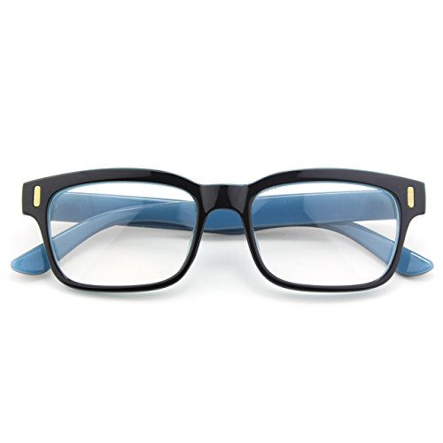 Hombre Mujer y Para CN84 Retro CGID Negro Gafas Claro Anteojos Lente Azul BzSBw80q