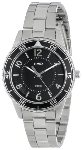 Timex Women's T2P019KW Ameritus Sport Black Dial, Stainless Steel Bracelet Watch