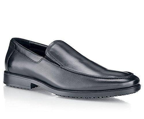 41 Rutschhemmend 1207 Crews VENICE Lederschuh Shoes Größe für EU 41 for 7 Schwarz Herren qPwzxSRx